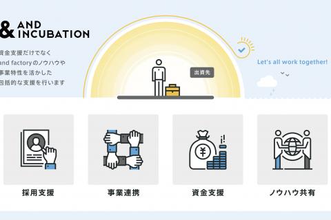 企業の成長フェーズに合わせ、出資とともにスマートフォン関連ノウハウを提供する「&AND INCUBATION」プロジェクトスタート!